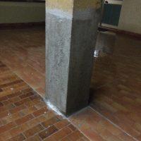 Risanamento di un pilastro dopo terremoto